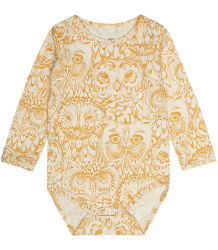 Soft Gallery Bob Romper Aop UIL Goud Soft Gallery Bob Body GOLDEN GLOW owl