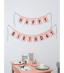 HAPPY BIRTHDAY Flags Design Letters HAPPY BIRTHDAY Flags pink