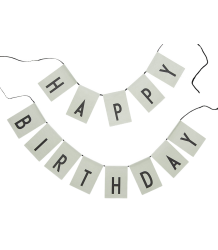 HAPPY BIRTHDAY Flags Design Letters HAPPY BIRTHDAY Flags green
