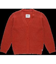 Repose AMS Gebreide V-hals Vest ROOD Repose AMS Knit Cardigan V-neck faded smoked red