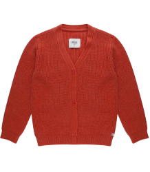Repose AMS Knitted V-neck Cardigan RED Repose AMS Knit Cardigan V-neck faded smoked red