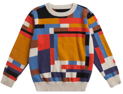 Repose AMS Knit Sweater COLOR BLOCK