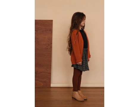 Repose AMS Knitted V-neck Cardigan RED
