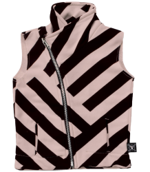 Nununu STRIPED Diagonal Vest Nununu STRIPED Diagonal Vest pink