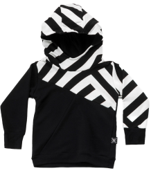 Nununu Part STRIPED Hoodie Nununu Part STRIPED Hoodie black and white
