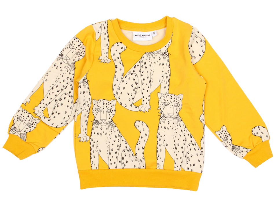 0e8318d9ca82 Mini Rodini Snow Leopard Sweatshirt - Orange Mayonnaise