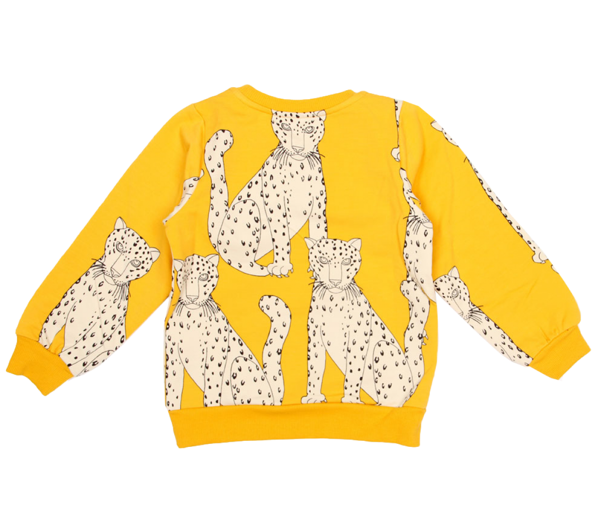 Mini Rodini Snow Leopard Sweatshirt Orange Mayonnaise