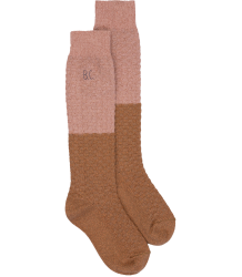 Bobo Choses COLOURBLOCK Long Socks Bobo Choses GOLD And PINK Long Socks