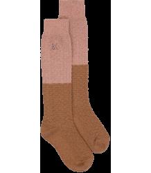 Bobo Choses COLOURBLOCK Long Socks Bobo Choses GOLD And PINK Long Socks