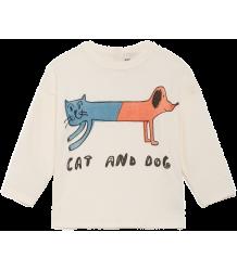 Bobo Choses Baby T-shirt LS CAT AND DOG Bobo Choses Baby T-shirt LS CAT AND DOG