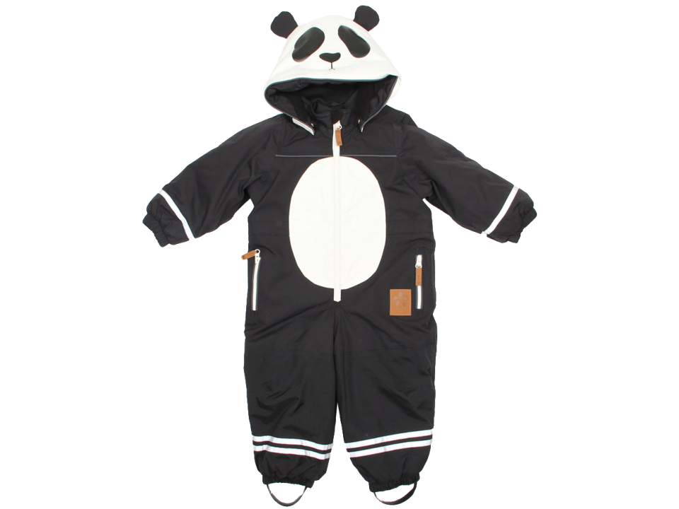 Mini Rodini Panda Overall Orange Mayonnaise