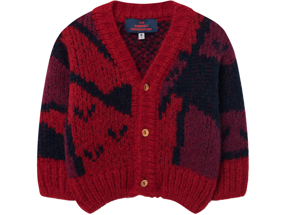 d660db2ffc0e The Animals Observatory Peasant Babies Cardigan ARTY - Orange May