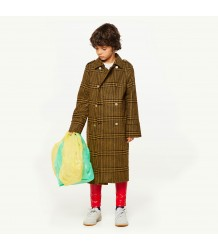 The Animals Observatory Jaguar Kids Coat TARTAN The Animals Observatory Jaguar Kids Coat TARTAN