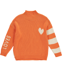 Beau LOves Knit Oversized Jumper High Neck LOVES & HEART Beau LOves Knit Oversized Jumper High Neck LOVES & HEART orange