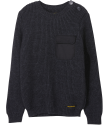 Finger in the Nose Rudy Heavy Knitted Jumper POCKET Finger in the Nose Rudy Heavy Knitted Jumper POCKET grey melange