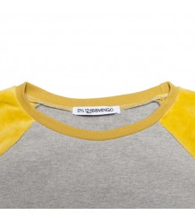 Mingo VELVET Sweater Mingo VELVET Sweater yellow grey