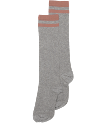 Mingo Knee Socks STRIPE Mingo Knee Socks STRIPE grey raspberry