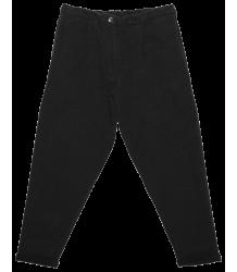 Mingo Cropped Chino Sweat Broek Zwart Mingo Cropped Chino Sweat Pants black