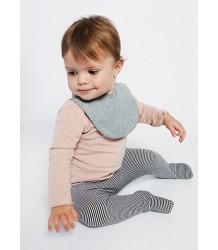 Baby Bib (New Fabric) Gray Label Baby Bib New grey melange