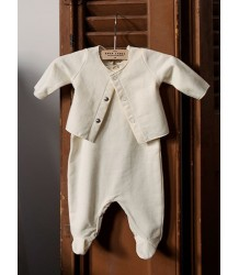 Gray Label Newborn Sleeveless Suit with Cardigan Gray Label Newborn Sleeveless Suit with Cardigan creme white
