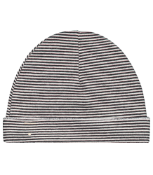 Baby Beanie STRIPED (New Fabric) Gray Label Baby Beanie New STRIPES black