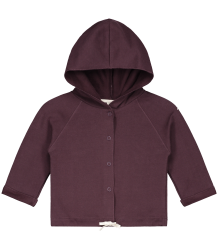 Gray Label Baby Hooded Cardigan (New Fabric) Gray Label Baby Hooded Cardigan NEW plum