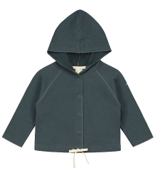 Gray Label Baby Hooded Cardigan (New Fabric) Gray Label Baby Hooded Cardigan NEW blue grey