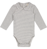Gray Label Baby Onesie with Collar STRIPED Gray Label Baby Onesie with Collar STRIPED grey melange