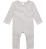 Gray Label Baby L/S Playsuit STRIPED Gray Label Baby L/S Playsuit STRIPED grey melange and cream