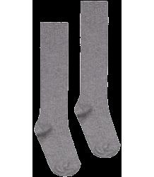 Long Ribbed Socks Gray Label Long Ribbed Socks grey melange