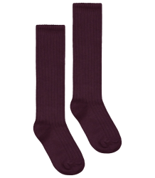 Gray Label Long Ribbed Socks Gray Label Long Ribbed Socks plum