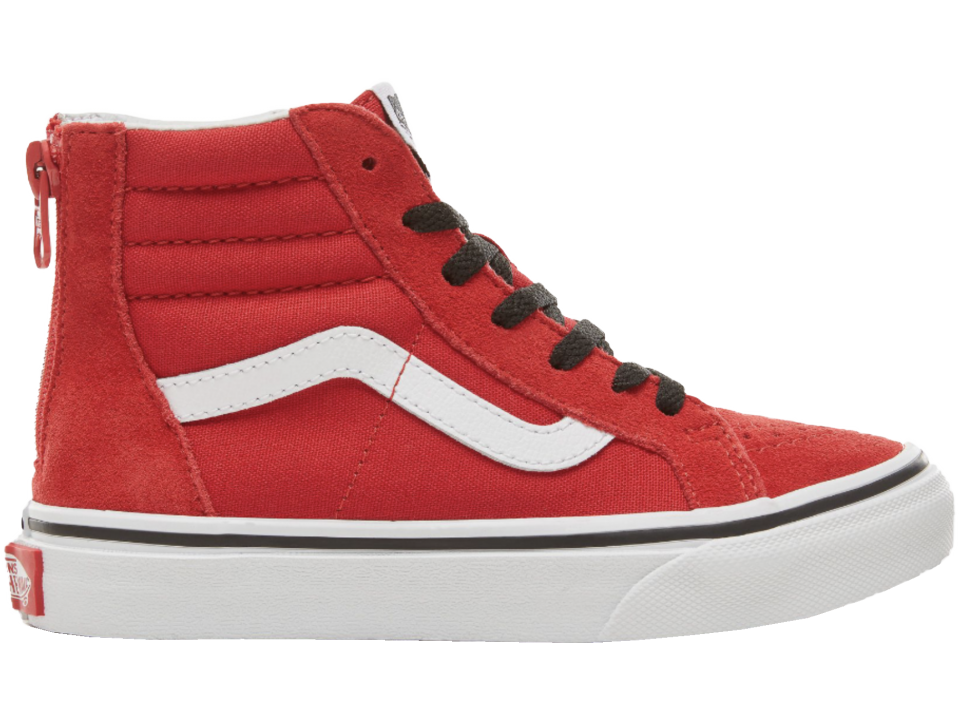 8364bc3ba60 VANS SK8-Hi Kids Zip SUEDE - Orange Mayonnaise