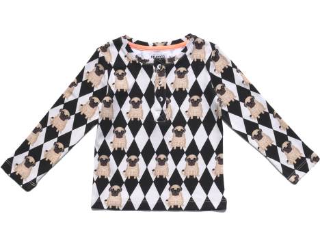 Filemon Kid Longsleeve T-shirt PUG DIAMON aop