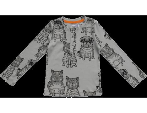 Filemon Kid Longsleeve T-shirt CATS & PUG aop