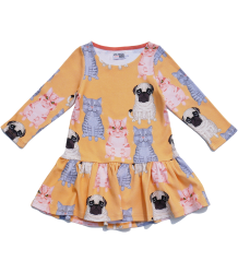 Filemon Kid Dress FAT CATS & DOG aop Filemon Kid Dress FAT CATS & DOG aop peach