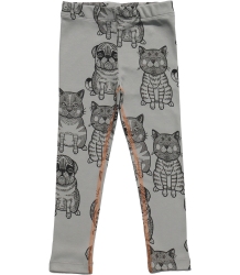 Filemon Kid Leggings CATS & PUGS aop Filemon Kid Leggings CATS & PUGS aop sage