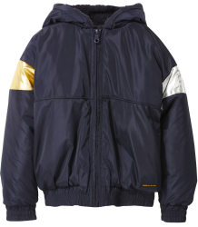 Rainbow Hooded Rain Jacket Finger in the Nose Rainbow Hooded Rain Jacket navy
