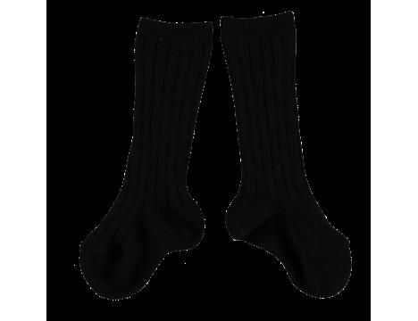 Mini Sibling Ribbed Long Socks