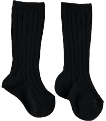 Mini Sibling Ribbed Long Socks Mini Sibling Ribbed Long Socks black