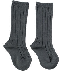 Mini Sibling Ribbed Long Socks Mini Sibling Ribbed Long Socks charcoal
