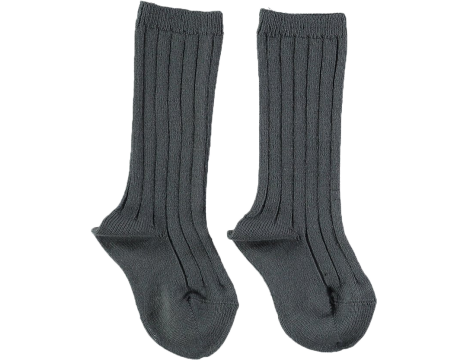 Mini Sibling Ribbed Long Socks