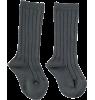 Mini Sibling Ribbed Long Socks Mini Sibling Ribbed Long Socks charcoal