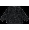 Mini Sibling Knit Reversible Sweater-Cardigan  Mini Sibling Knit Sweater-Cardigan black melange