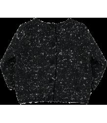 Mini Sibling Knit Sweater-Cardigan  Mini Sibling Knit Sweater-Cardigan black melange