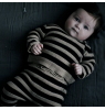 Mini Sibling Knit Sweater-Cardigan STRIPES Mini Sibling Knit Reversible Sweater-Cardigan STRIPES oatmeal and black