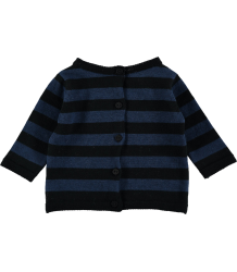 Mini Sibling Knit Reversible Sweater-Cardigan STRIPES Mini Sibling Knit Sweater-Cardigan STRIPES blue