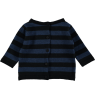 Mini Sibling Knit Reversible Sweater-Cardigan STRIPES Mini Sibling Knit Sweater-Cardigan STRIPES blue