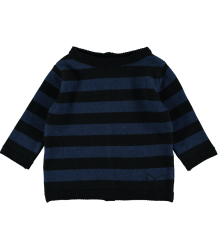 Mini Sibling Knit Sweater-Cardigan STRIPES Mini Sibling Knit Sweater-Cardigan STRIPES blue