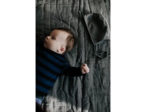 Mini Sibling Knit Sweater-Cardigan STRIPES