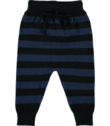 Mini Sibling Knit Trousers STRIPES Mini Sibling Knit Trousers STRIPES blue and black